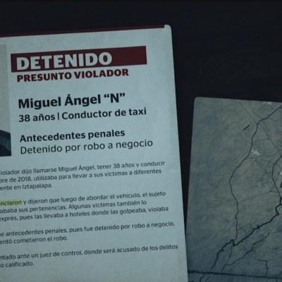 Taxista violador de la CDMX, involucrado en al menos 10 casos