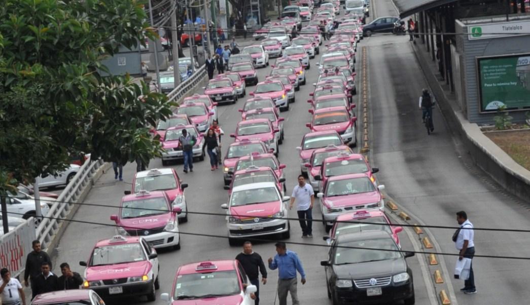 FOTO Taxistas harán nuevas marchas el 7 de octubre (Cartoscuro Archivo/Armando Monroy)