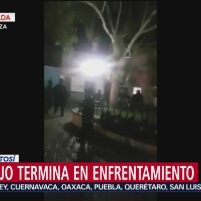 Termina en balacera intento de desalojo en Alcaldía de SLP
