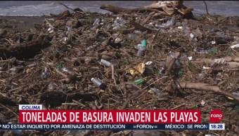 FOTO: Toneladas Basura Invaden Playas Colima,