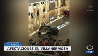 Tormenta provoca inundaciones en Villahermosa, Tabasco