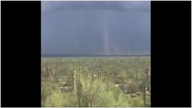 Foto: Se formó un tornado en Sonora, 22 de septiembre de 2019 (Twitter)