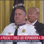 Foto: Trump Medalla Valor Héroes Masacre El Paso 9 Septiembre 2019