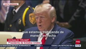 Trump felicita a López Obrador por su cooperación en la frontera