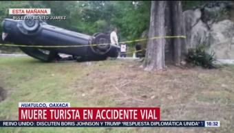 FOTO: Turista Muere Accidente Automovilístico Huatulco