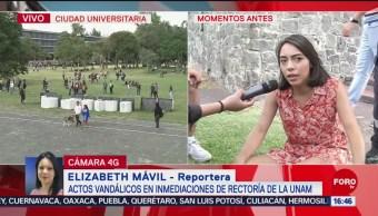 FOTO: Joven Resulta Herida Después Que Encapuchados Tiraran Letras UNAM
