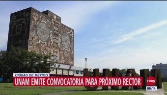 UNAM emite convocatoria para elegir nuevo rector