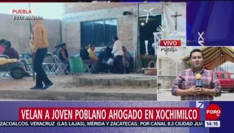 FOTO: Velan joven poblano ahogado Xochimilco, 3 de septiembre de 2019