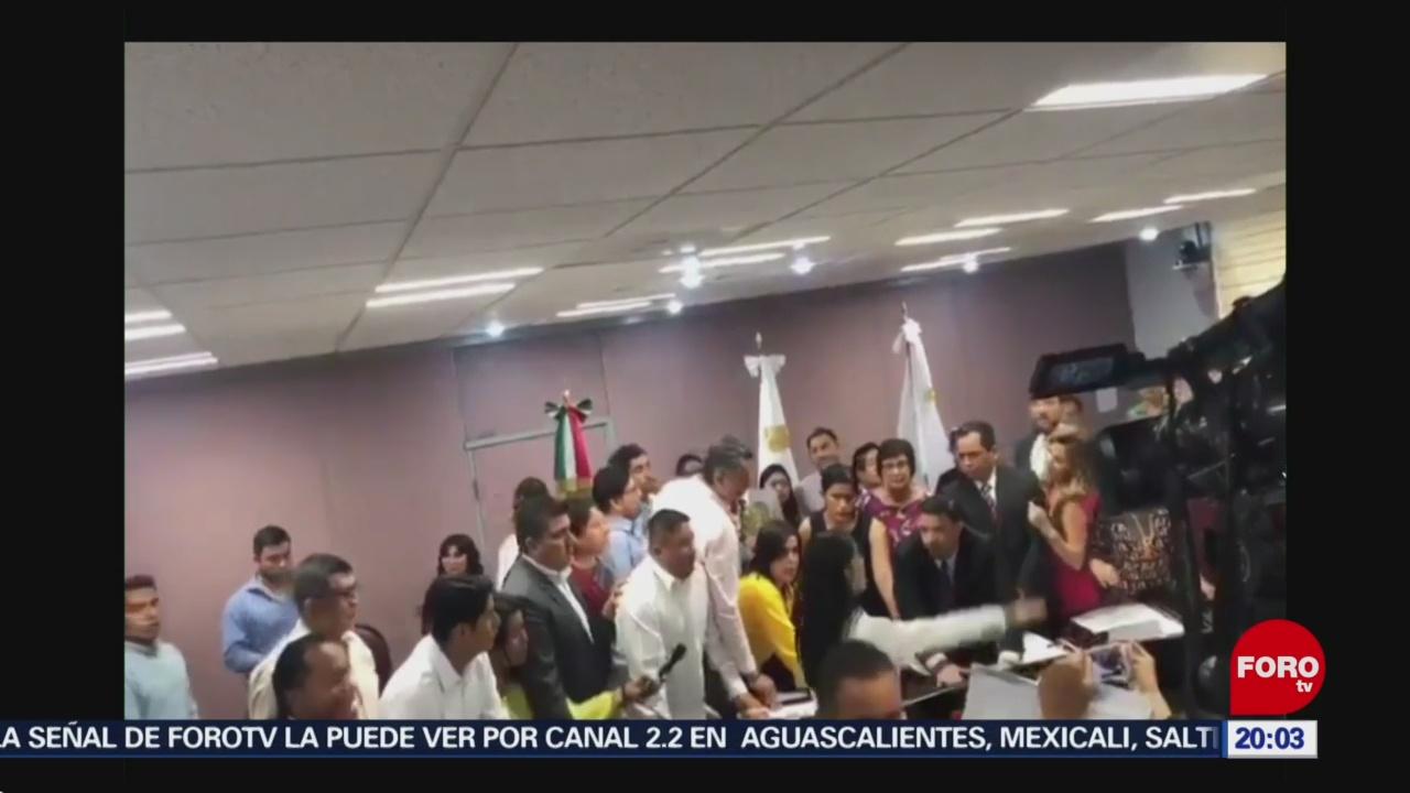 Foto: Verónica Hernández Rinde Protesta Encargada Fiscalía Veracruz 3 Septiembre 2019