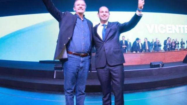 Reaparece Vicente Fox durante celebración del 80 aniversario del PAN