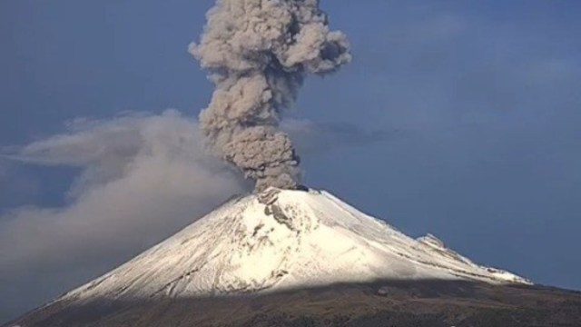 Foto: El volcán Popocatépetl registró columna con bajo contenido de ceniza y una altura de 1.8 kilómetros, 8 septiembre 2019