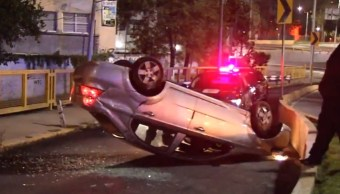 Foto: Vuelca auto en la Ciudad de México, 13 de septiembre de 2019