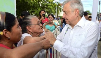 Foto AMLO en la visita a Izamal (Presidencia de la República)