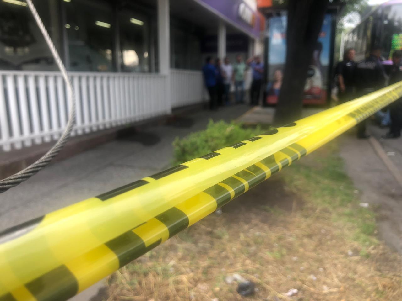 Aspectos del transporte público que fue asaltado en Naucalpan, Estado de México. (Alan G. Hernández/FOROtv)