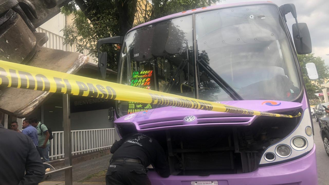 asalto a transporte publico naucalpan