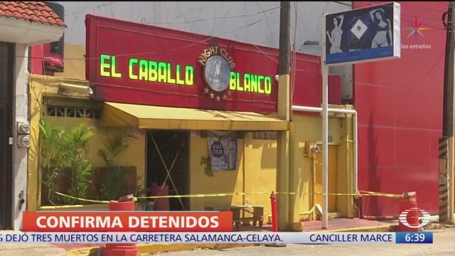 Ya hay detenidos por ataque a bar de Coatzacoalcos, Veracruz