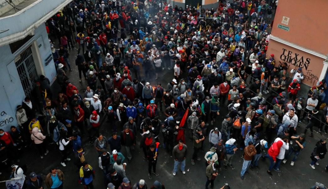 Foto: Las protestas se extienden en la capital ecuatoriana, Quito, 09 de octubre de 2019 (Reuters)