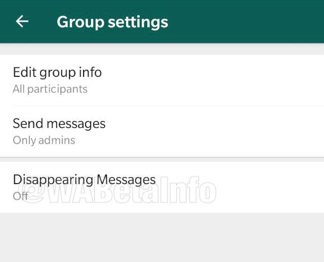 Foto: configuracion whatsapp mensajes que desaparecen. 2 Octubre 2019