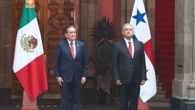 El presidente López Obrador recibió a su homólogo de Panamá
