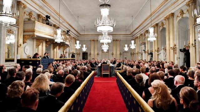 Foto: Reunión de la Academia Sueca, 20 de diciembre de 2018