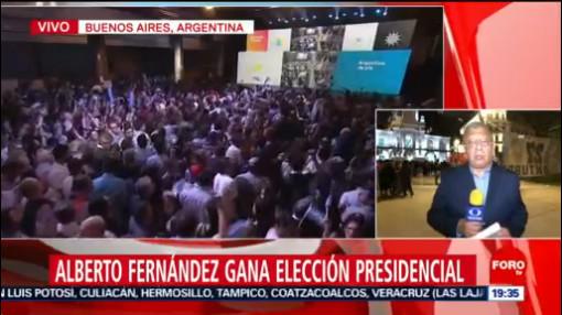 FOTO: Alberto Fernández gana elección presidencial en Argentina, 27 octubre 2019