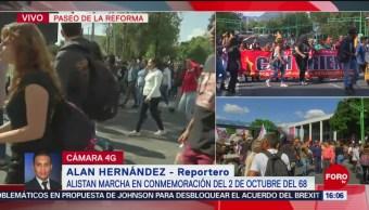 FOTO: Alistan Marcha Por Masacre 2 Octubre Tlatelolco