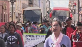 Foto: Alumnas Normal Rural Teteles Retienen Autobuses 10 Octubre 2019