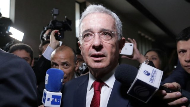 Foto: Inicia audiencia en proceso contra expresidente Álvaro Uribe, el 8 de octubre de 2019 (Reuters)