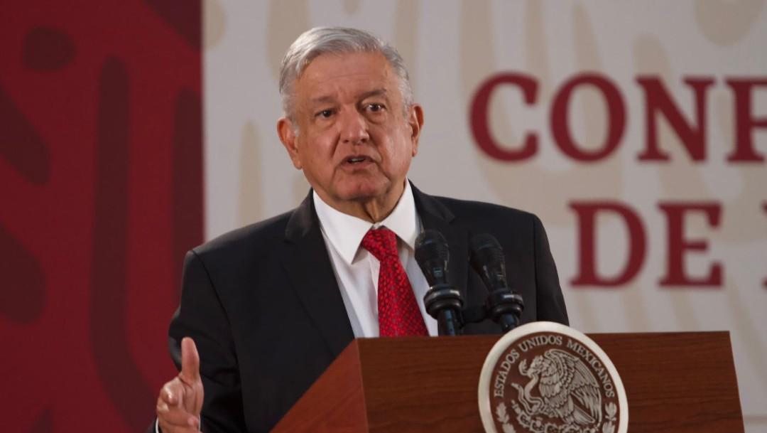 Foto: El presidente Andrés Manuel López Obrador durante la conferencia matutina en Palacio Nacional del 30 de octubre de 2019 (Foto: Andrea Murcia /Cuartoscuro.com)