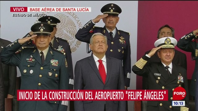 AMLO encabeza inicio a obras de aeropuerto en Santa Lucía