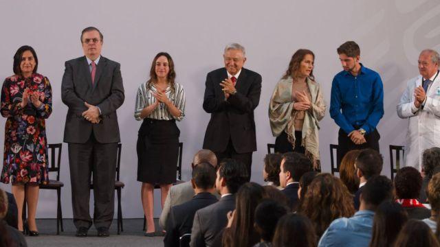 AMLO durante Encuentro Mundial de Jóvenes.