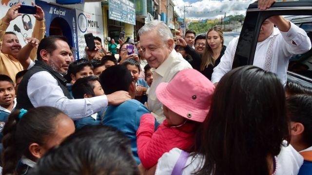 Andrés Manuel López Obrador estuvo de gira por Oaxaca.