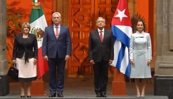 Foto: AMLO recibe en Palacio Nacional al presidente de Cuba, 17 de octubre de 2019, Ciudad de México
