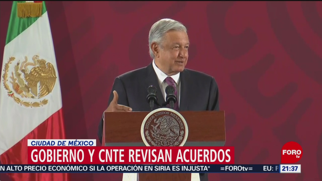 Foto: Amlo Cnte Reunión Diálogo Demandas Laborales 9 Octubre 2019