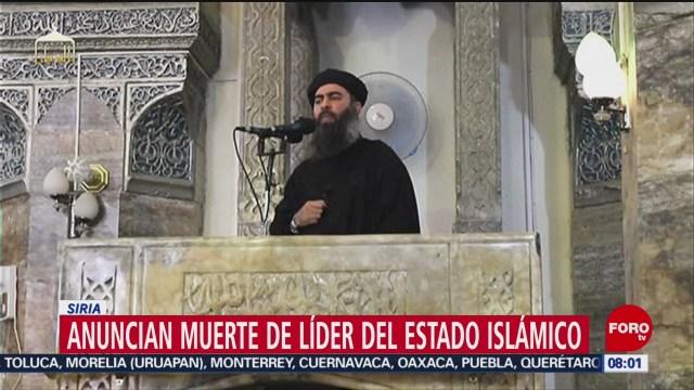 FOTO: Anuncian muerte de líder del Estado Islámico, 27 octubre 2019