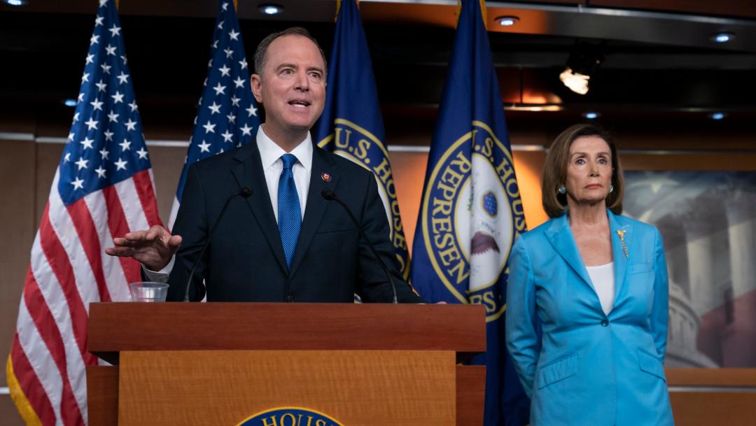 Adam Schiff y Nancy Pelosi, 02 octubre del 2019, (AP)
