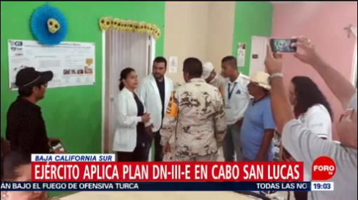 FOTO: Aplican Plan DN-III-E en Los Cabos por las fuertes lluvias, 13 octubre 2019