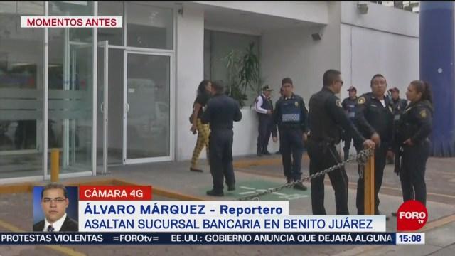 FOTO: Asaltan Sucursal Bancaria Alcaldía Benito Juárez,