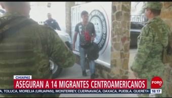 FOTO: Aseguran a 14 migrantes que viajaban ocultos en caja de tráiler, 13 octubre 2019