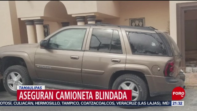 FOTO: Aseguran dos camionetas en Miguel Alemán, en Tamaulipas, 13 octubre 2019
