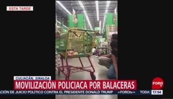 FOTO: Video Balacera Tienda Autoservicio Culiacán