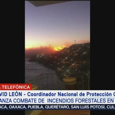 Avanza combate de incendios forestales en Baja California