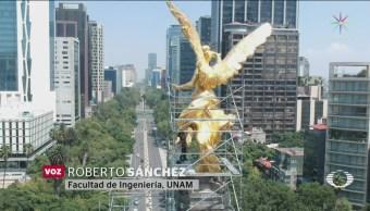 Foto: Restauración Ángel Independencia 11 Octubre 2019