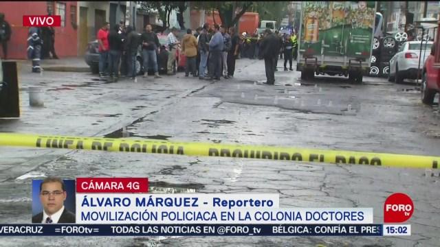 FOTO: Balacera Colonia Doctores Deja Menos Un Muerto,