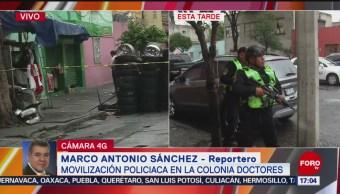 FOTO: Balacera colonia Doctores deja dos policías muertos