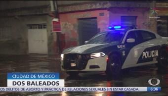 Balean a dos hombres en la Ciudad de México