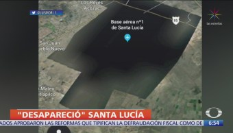 Base aérea de Santa Lucía no aparece en Google Earth ni Google Maps