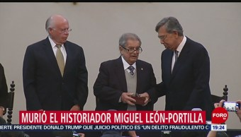 Foto: Bellas Artes Homenaje Miguel León-Portilla 2 Octubre 2019