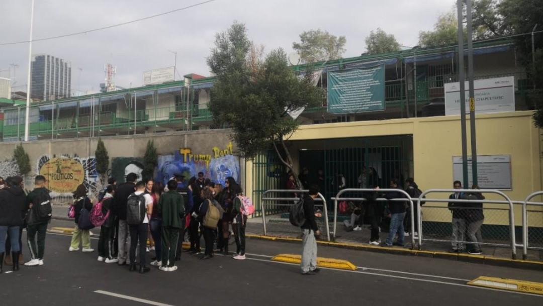 Foto: Protesta en escuela Secundaria de la CDMX, 3 de octubre de 2019
