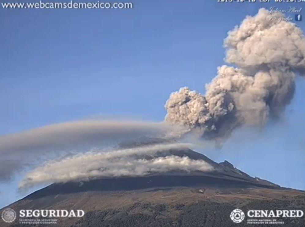 Foto Cae ceniza del Popocatépetl en cinco municipios del Edomex
